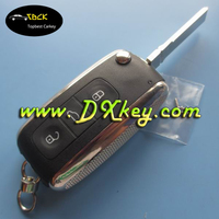 Topbest 3 button key blanks from china for vw golf remote key key hu66