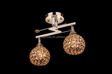 Modern crystal ceiling light/Decorative crystal chandelier 2 heads