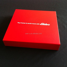 Popular!!! attractive design wholesale red box packaging