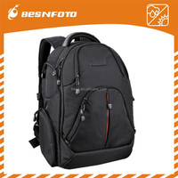 Hot sell Black Nylon Pro Camera Backpack dslr 4lens and Laptop