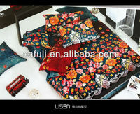 100 cotton 60s floral printed satin bedding fabric