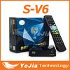 Original S-V6 Mini Digital Satellite Receiver with AV HD output Support 2xUSB WEB TV USB Wifi 3G Biss Key