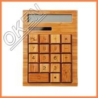 16-digit calculator household funky wooden Calculator
