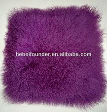 1st quality grade Mongolian lamb fur pillows