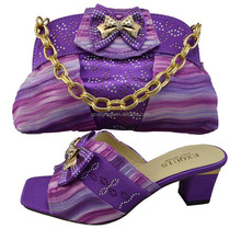 New Arrival Design! Colorful italian shoes and bags to match women/ladies shoes and bags