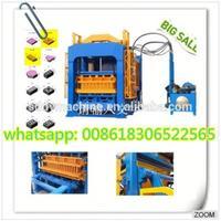 high quality Cement Brick Making Machine Automtic hollow Cement concrete hollow brick making machineQT4-15