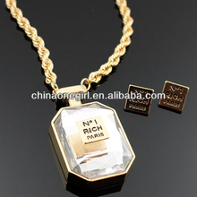 Crystal RICH Perfume Fashion Necklace Set