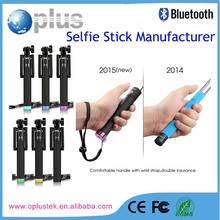 2015 Fashion Extendable 5 colors Wire Monopod Selfie Stick for iphone+ Cell phone holder