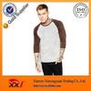 Fashion long sleeve nylon 3/4 sleeve raglan t-shirt
