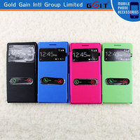 [GGIT] for Huawei Ascend P6 Two Window Caller Display Flip Cover Case