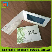 Chinese Factory Custom Video Greeting Card With Free Design