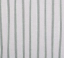 White and blue stripe Printed cotton fabric