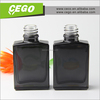 empty rectangular perfume glass bottles /fancy glass perfume bottles/perfume bottle with black plastic cap