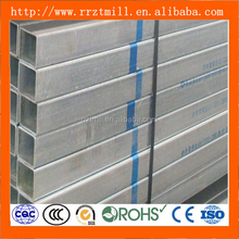 bs1387 zinc coated galvanized square steel pipe/tube for fluid
