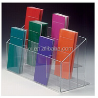 Tabletop high transparency perspex brochure stand, acrylic brochure holder for sale