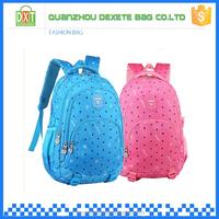 New trends waterproof custom color polyester ergonomic outdoor school bags for teenagers
