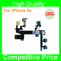 100% warranty Volume Power Mute Button Flex On Off Cable ribbon For iPhone 5s