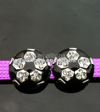 8mm rhinestone soccer slider free shipping slide charm