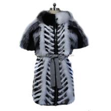 Beijing fur factory offer women clothing elegant OEM high quality fur vest rabbit