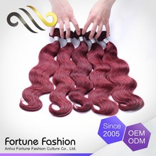 Excellent Quality Can Be Colored Human Cheap Hair Extension Red Color Purple With Black Streaks