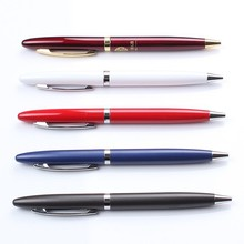 2015 new Simple style painting gift metal ball pen free sample