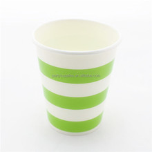 High Quality 9oz Stripe Drinking Paper Cups for Wedding Decoration