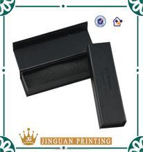 black gift packaging box/ book shape box with sponge inner tray for pen