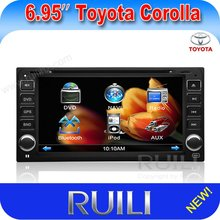 Toyota old Corolla 6.95 inch 2 din car dvd player with gps