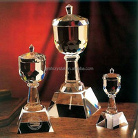 noble unique design crystal trophies and cups MH-1003