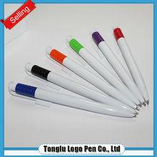 Latest design environmental novel design transparent plastic ball pen