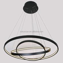 2015 hotsell aluminium ring acrylic large modern led pendant lamp