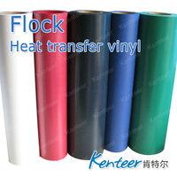 flock iron on heat transfer sticker for garment