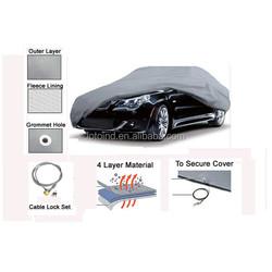 4 layer & cotton car cover, 4 layer car cover, 4 layer non-woven car cover