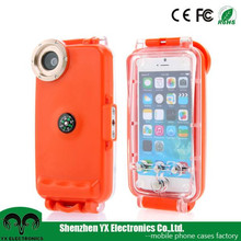 clear hard polycarbonate diving durable cell phone waterproof case for iphone 6