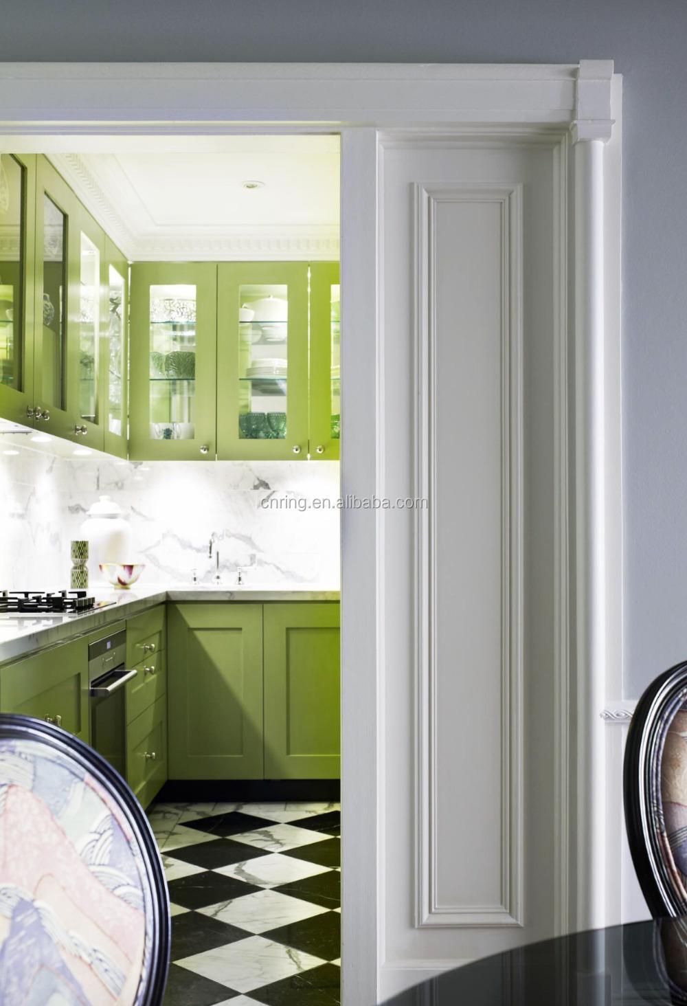 Europa stijl witte shaker/groene/blauwe houten keukenkastjes ...