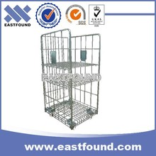Storage Metal Case Roller Cage, 4 Wheels Market Wire Hand Trolleys