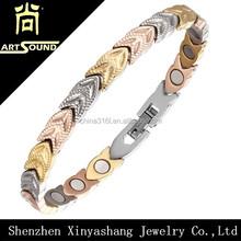 Top sale health bracelet stainless steel jewelry making supplies