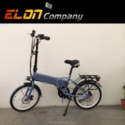 2015 new fashion tide folding electric bike for woman with front and rear disk brake(E-TDH039A)