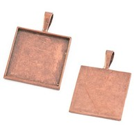2014 Latest Wholesale Hot Antique Copper Plated Round Pendant Tray