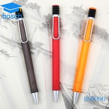 Nice and new design promotional flat ballpoint pen with LOGO custom