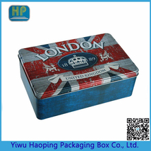 Custom loge and Pattern Tinplaye gift boxes packaging confectionery tin case for gift from factory sale