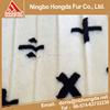 China Manufacture white jacquard white acrylic polyester imitation fox fake fur fabric