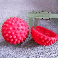 cheapest plastic PVC 9cm colorful saft massage ball