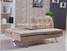 Chrome legs Chinese Sofa Bed For Online Business