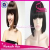 100% Unprocessed Peruvian Bob front Lace Wig With Bangs Natural Color Bob Wigs Hot Selling