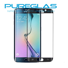 Real Corning Gorilla Glass material for Samsung S6 edge Tempered glass screen protector, Curved 3D edge, full cuverage