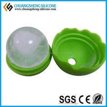 Christmas custom silicone ice cube single ball mold tray