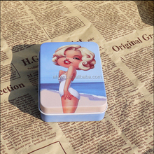 business cards packaging decorative tin boxes personalized blank tin box