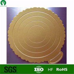 2016 factory direct sale cake board glossy surface gold cake paper circles