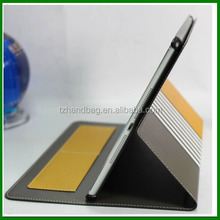 Hot selling stripe style lightweight leather flip case for ipad air